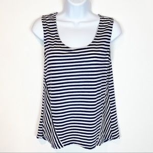 41 Hawthorn Navy and White Striped Sleeveless Top